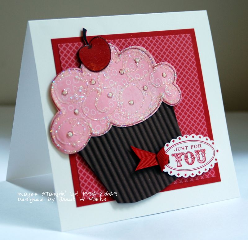 Cupcake pink and red