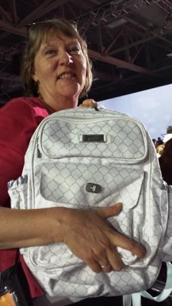 Me getting bag
